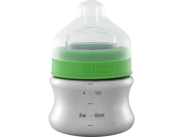 Klean Kanteen Kid Kanteen Baby Bottle juomapullo Slow Flow 148ml , vihreä/hopea